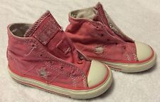 Converse one star pink toddler shoes size 6 pre-owned