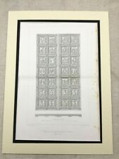 1857 Antique Print Architectural Engraving Duomo Bronze Doors Florence Italy