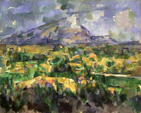 Oil painting Paul Cézanne -Impression landscape  Mont Sainte-Victoire