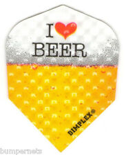 9 Pieces New I Love Beer Dimplex Standard Dart Flights 3 Sets of 3