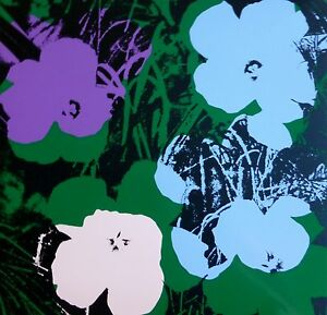 ANDY WARHOL POPPY FLOWERS SUNDAY B.MORNING SCREENPRINT 11.64 COA