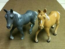 """PAIR OF 1999 HARD RUBBER TOY HORSES APPROX. 5"""" LONG"""