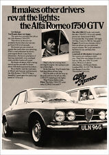 ALFA ROMEO GTV 1750 RETRO POSTER A3 PRINT FROM CLASSIC ADVERT