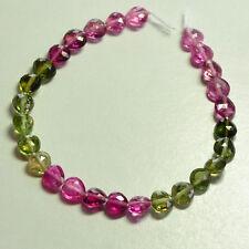 "Pink Green Blue Tourmaline Faceted Heart Briolette 5"""