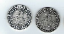 1989 Durham Maine 200 Years .999 Silver-Pewter