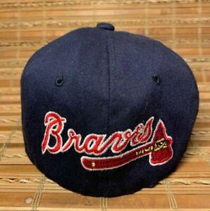 Vtg Starter Starfit Atlanta Braves Beanie Hat Cap or Cover Size 1/6-5/8 to 7-1/8