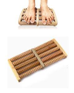 Rullo massaggiatore in legno per piedi -  27 x 12,5 x 3,5 cm
