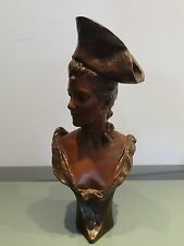 "Bronzefigur,Georges van der Straeten,""Theresa"",Jugendstil Bronze,Gießermarke"