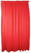 rouge voile TENTURE RIDEAU TRINGLE Poche 150x183cm 150x183cm