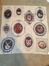 NWT Madewell Rare Cat And Dog Scarf Huge Adorable Pug!!!