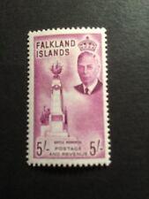 Falkland Islands 1952 GVI 5/- SG 183 Purple Lightly Mounted Mint