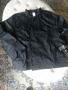 NWT DICKIES WOMEN'S EXECUTIVE CHEF COAT BLACK XL
