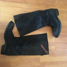 G-star Women Black boots US size 6 SUEDE