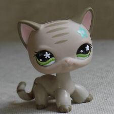 Grey Stripe Short Hair Kitty Cat  #483 LITTLEST PET SHOP LPS mini Action Figures