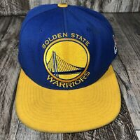 Golden State Warriors Hat Mitchell & Ness Snap Back One Size Cap Yellow Blue OSF