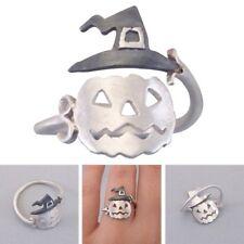 Lovely Halloween Pumpkin Finger Ring Women Open Adjustable Rings Party Jewelry