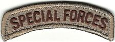 Desert Tan Brown US Special Forces Tab Patch VELCRO® BRAND Hook Fastener