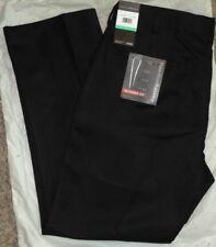 PERRY ELLIS Mens MODERN-FIT BLACK SLACKS~Dress Pants~Size 34 X 29~NEW