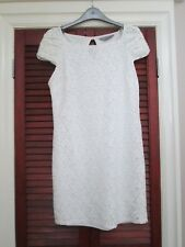 LACE DRESS OFF WHITE IN COLOUR SIZE 10