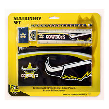 NRL Official North QLD Cowboys 5 Piece Stationery Set