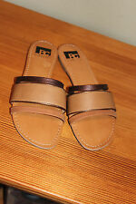 BC Footwear 3 Strap Nordstrom Tan Slip On Sandals Flip Flops Size 9 with box
