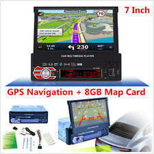"7"" Hd Touch Screen Car Stereo Bluetooth Fm Mp5 Player Gps Navigation 8Gb Sd Maps"