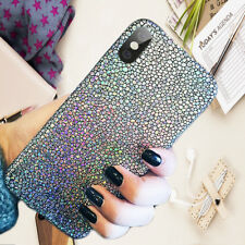 3D Girl Bling Glitter Leather Slim Light Silicone Cover Case For iPhone X 8 Plus