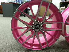 17 Inch # 0029 White Diamond Edition wheels Rims Pink Machine 4X100 NEW PRODUCT