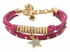 Juicy Couture Gifting Very Pretty Pave Star Friendship Duo Bracelet Pink NEW