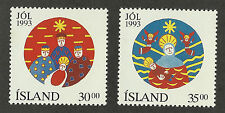 Iceland 777-778 (1990's)) MNH/OGnh; VF/XF & S {Christmas} 2 Stamps