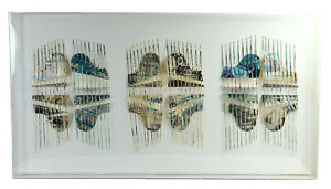 Vintage Modern Three Dimensional Piano Paper Sculpture