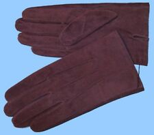 NEW MENS size 8 or Small PURPLE PIG SUEDE LEATHER UNLINED GLOVES shade10512