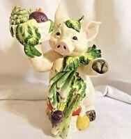 "FITZ AND FLOYD Percy the Pig Figurine Figure Ceramic 13"""