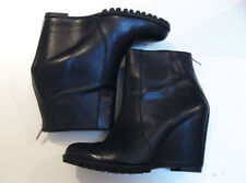 MINIMARKET Wedge Zip Black Ankle Boots - EU 38 - Fits AU/US Size 7 - RRP $469