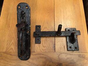 Vintage Cast Iron Garden Gate Handle And Latch