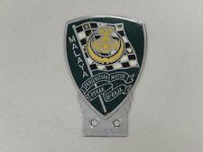 Vintage Chrome Malaya Persekutuan Motor Perak di-Raja voiture badge Auto emblème