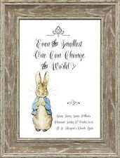 b5fd9d5e757a Personalised Peter Rabbit Christening Gift Nursery New Baby Beatrix Potter  Print