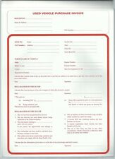 Used Vehicle Purchase Invoice Pad-50 duplicate NCR sets per pad -Unit Quantity 1