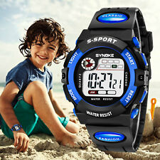 Kids Digital Electronic Watch Waterproof Children Boys Girls Sports LED Watches