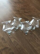 """Set Of 4 Country Crystal Votive Cup Candle Holders 5"""" high Homco Home Interior"""