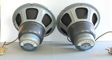 "Jensen H222 12"" Coaxial 2-Way Speaker Mid-50's All Original Dual Concentric Pair"