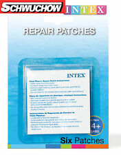 Intex Reparatur Kleber 6 Flicken 7x7cm Pool Schwimmbecken Luftmatratze Bestway