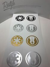Star Wars Style *Jedi Order* And *Galactic Empire* Style vinyl sticker