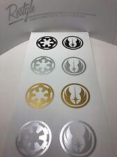Orden Jedi De Star Wars Estilo * * y * Imperio Galáctico * Estilo Pegatina De Vinilo