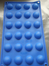 "Silicone Mould 24 Small (1"") Semi-Circle/Half Spheres/Balls-Cake Pops/Chocolates"