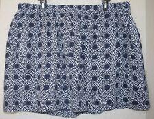 Women's NWOT J. Crew Factory Navy Blue & White Polka Dot Cotton Skirt Size XL