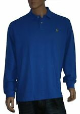 Polo Ralph Lauren Royal Blue Small Pony Mesh Langarm Poloshirt Gr.L