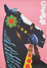 Original Vintage Poster Cyrk Horse Romuald Socha 1974