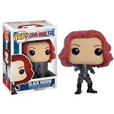 Funko Civil War POP Black Widow Bobble Head Vinyl Figure NEW Toys Marvel