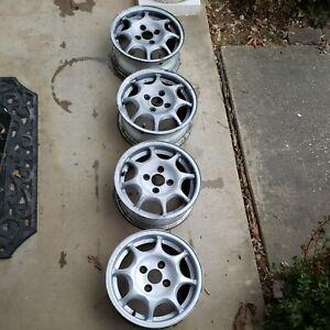 "HONDA VX 13""  4x100 OEM Wheels by ENKEI weight only 9 lb  CIVIC CRX INSIGHT"